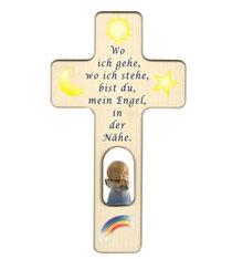 """Bild Kinder-Gebetskreuz """"Wo ich gehe"""" Nr. K501 aus Holz"""