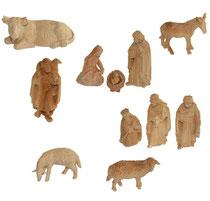 Bild Krippenfiguren Set Zirbenholz handgeschnitzt