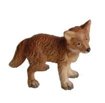 Bild Fuchswelpe Nr. 1058 aus Ahornholz geschnitzt