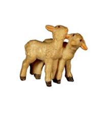 Bild Krippentiere Lammgruppe stehend aus Ahornholz geschnitzt