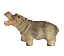 Bild Nilpferd Nr. 1099 aus Ahornholz geschnitzt