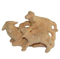 Bild Krippenfigur Schaf mit Lämmer handgeschnitzt aus Zirbenholz