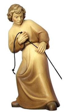 Bild Krippenfigur Mirja Hirt ziehend aus Ahornholz geschnitzt