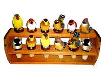 Bild Flaschenkorken Vögel Nr. 649889 handgeschnitzt aus Holz