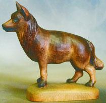 Bild Holzfigur Schäferhund Nr. 927 handgeschnitzt