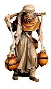 Bild Krippenfigur Thomas Wasserträger aus Ahornholz geschnitzt