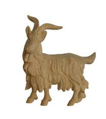 Bild Krippenfigur Ziegenbock 1 handgeschnitzt aus Zirbenholz