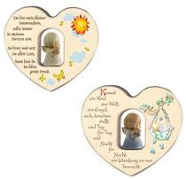 Bild Herz mit Engel aus Holz