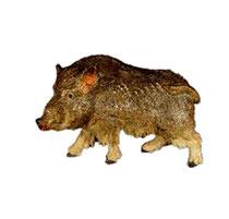 Bild Krippentier Wildschwein aus Ahornholz geschnitzt