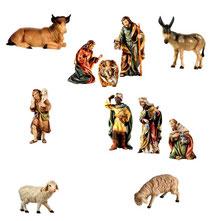 Bild Krippenfiguren Set Joshua aus Ahronholz geschnitzt