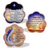 Bild Wolke mit Spruch und Lunaengel aus Holz