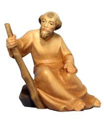 Bild Krippenfigur Mirja Hirt sitzend aus Ahornholz geschnitzt