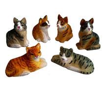 Bild Katzen BC-14 handgeschnitzt aus Holz