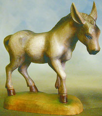 Bild Holzfigur Esel Nr. 911 handgeschnitzt