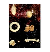 Baumschmuck Tannenzapfen, Walnuss, Kranz, Lok, Vogelhaus, Kometstern aus Holz
