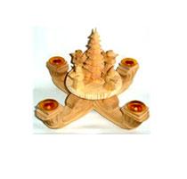 Bild Adventskranz aus Holz