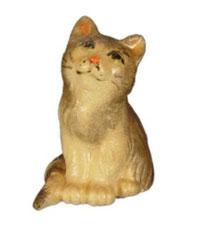 Bild Kätzchen sitzend Nr. 1001 aus Ahornholz geschnitzt