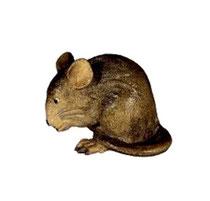 Bild Krippentier Maus bückend aus Ahornholz geschnitzt