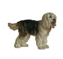 Bild Hund Bobtail Nr. 1028 aus Ahornholz geschnitzt