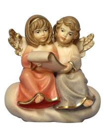 Bild Krippenfigur Mirja Engel sitzend singen aus Ahornholz geschnitzt