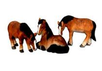 Bild Pferde Nr. 20169 handgeschnitzt aus Holz