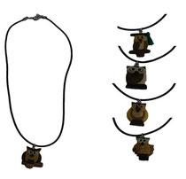 Bild Halsband Eule für Kinder aus Holz