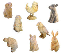 Bild Adler, Huhn, Fuchs, Schildkröte, Hund, Kuh, Bieber, Hase handgeschnitzt aus Holz