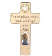 """Bild Kinder-Gebetskreuz """"Wo ich gehe"""" Nr. K502 aus Holz"""
