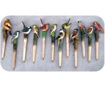 Bild Kugelschreiber Vögel handgeschnitzt aus Holz