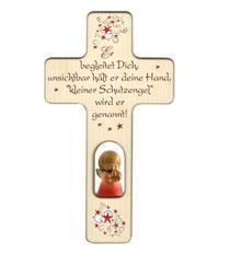 """Bild Kinder-Gebetzskreuze """"Er begleitet"""" Nr. K506 aus Holz"""