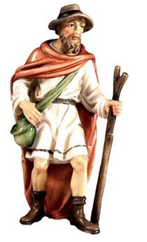 Bild Krippenfigur Joshua Hirte mit Stock aus Ahornholz geschnitzt