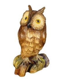 Bild Waldohreule Nr. 1040 aus Ahornholz geschnitzt