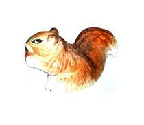 Bild Eichhörnchen Nr. 650093 handgeschnitzt aus Holz