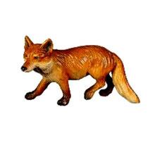 Bild Krippentier Fuchs laufend aus Ahornholz geschnitzt
