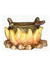 Bild Krippenfiguren Mirja Lagerfeuer aus Ahornholz geschnitzt