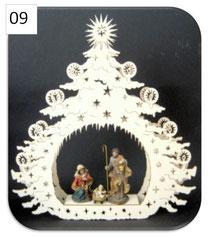 Bild Lasertannenbaum ohne Hl. Familie aus Holz