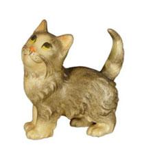 Bild Kätzchen stehend Nr. 1000 aus Ahornholz geschnitzt