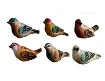Bild Vögel Nr. BC-11 handgeschnitzt aus Holz