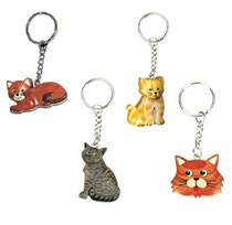 Bild Schlüsselanhänger Katzen klein Nr. PHSAK8608 aus Holz