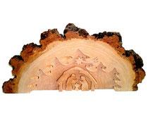 Bild 3D Birkenkrippe aus Holz