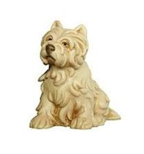 Bild Hund Cesar aus Ahornholz geschnitzt