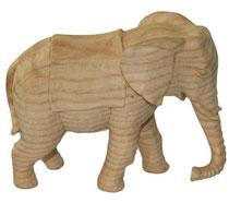 Bild Krippenfigur Elefant handgeschnitzt aus Zirbenholz