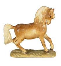 Bild Pferd in Trab Nr. 1113 aus Ahornholz geschnitzt