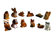 Bild Tiere gemischt Nr. BC-3 handgeschnitzt aus Holz