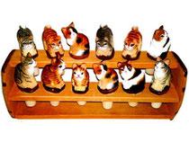 Flaschenkorken Katzen Nr. 649897 handgeschnitzt aus Holz