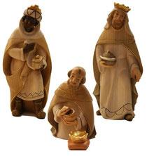 Bild Krippenfiguren Thomas modern Hl. 3 Könige aus Ahornholz geschnitzt