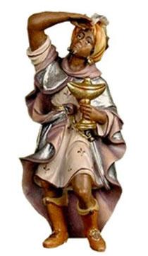 Bild Krippenfigur Thomas König Mohr aus Ahornholz geschnitzt