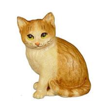 Bild Katzenjunge Nr. 1005 aus Ahornholz geschnitzt