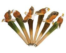 Bild Kugelschreiber Adler handgeschnitzt aus Holz