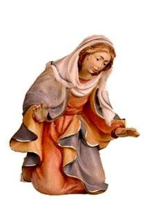 Bild Krippenfigur Thomas Maria aus Ahornholz geschnitzt